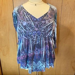 1X Live and Let Live purple paradise-embellished